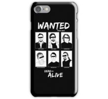 Wanted Grunge Icons iPhone Case/Skin
