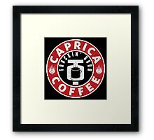 Caprica Coffee Framed Print