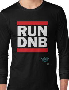 RUN DNB Design - White Long Sleeve T-Shirt