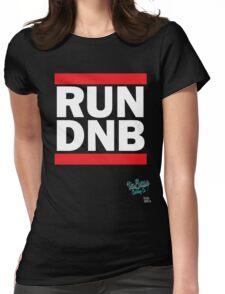 RUN DNB Design - White Womens Fitted T-Shirt