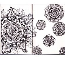 Mandalas in a Sketchbook Photographic Print