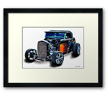 Black Flame Hot Rod Framed Print