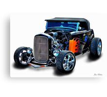 Black Flame Hot Rod Canvas Print