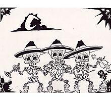 dia de los muertos( day of the dead) vintage mariachi Photographic Print