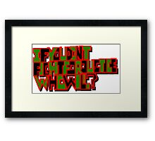 Fight for Justice Framed Print