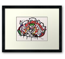 graffiti zozobra Framed Print