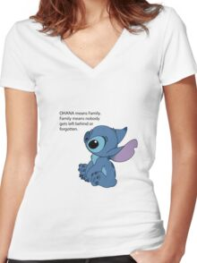 Sad Stitch Women's Fitted V-Neck T-Shirt