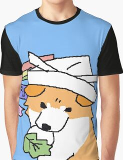 Japanese Akita Doodle Graphic T-Shirt