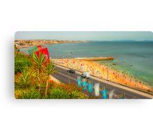 Estoril beach. Hotel cascais Miragem. Canvas Print