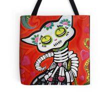Gato De Los Muertos Tote Bag