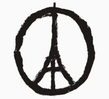 Paris Peace Symbol - White by betsycrump