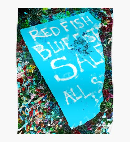 Red Fish Blue Fish Sale Poster