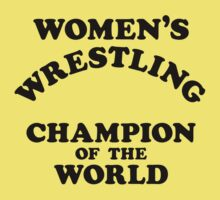 Inter-Gender Wrestling Champion of the World (Black) by BiggStankDogg