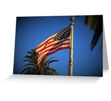 Freedom flag Greeting Card