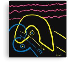 Kissing on the beach Canvas Print