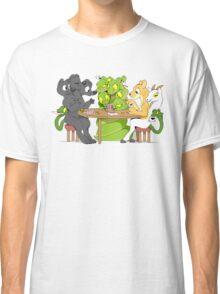 Cerberus Hydra and Chimera playing poker Classic T-Shirt