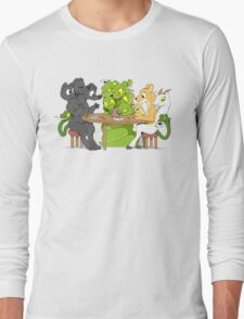 Cerberus Hydra and Chimera playing poker Long Sleeve T-Shirt