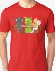 Cerberus Hydra and Chimera playing poker T-Shirt