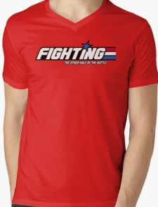 Fighting: The Other Half of the Battle Mens V-Neck T-Shirt