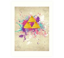 Triforce Splash Art Print