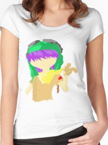 Desert Noodle Women's Fitted Scoop T-Shirt
