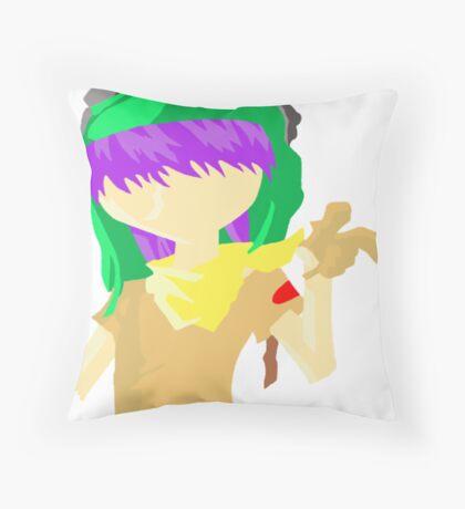 Desert Noodle Throw Pillow