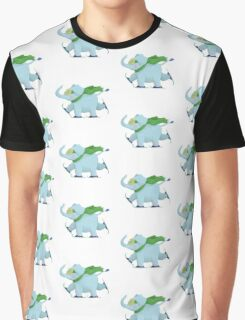 Ski Elephant Graphic T-Shirt