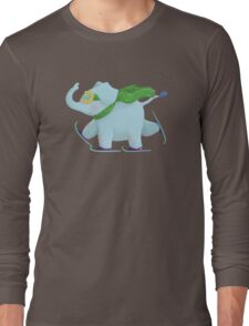 Ski Elephant Long Sleeve T-Shirt