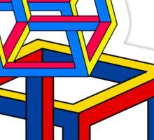 Neckin Necker Cubes Sticker