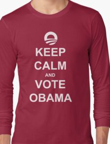 Keep Calm and Vote Obama 2012 Shirt Long Sleeve T-Shirt