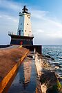 Ludington Light Reflected by Kenneth Keifer