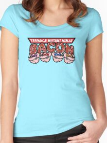 Teenage Mutant Ninja Bacon  Women's Fitted Scoop T-Shirt