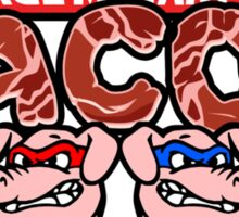 Teenage Mutant Ninja Bacon  Sticker