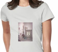 Vintage Eiffel Tower Photo Frame Womens Fitted T-Shirt