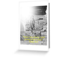 """Psalm 56:3""  by Carter L. Shepard Greeting Card"