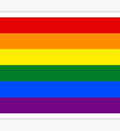 Rainbow flag Gay Homosexual Lesbian Sticker