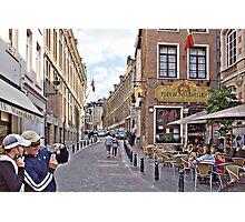 STREET OF LEUVEN Photographic Print