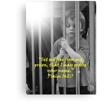 """Psalm 142:7""  by Carter L. Shepard Canvas Print"