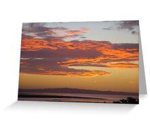 Sunset on the Coromandel Peninsula, New Zealand Greeting Card