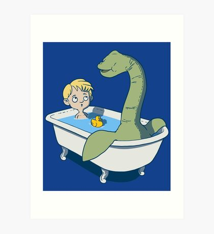 There's something in my bath!! Art Print
