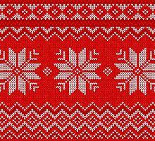 Christmas Knitted  pattern  by Alena Tselesh