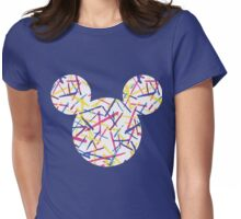 Mouse Abstract Patterned Silhouette Womens Fitted T-Shirt