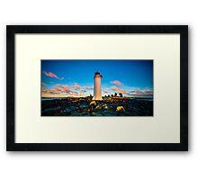 Port Fairy Griffith Island Lighthouse Sunrise Framed Print
