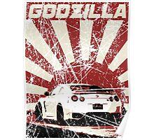 Japan Godzilla - GTR Poster