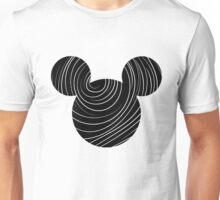 Mouse Spiral Patterned Silhouette Unisex T-Shirt