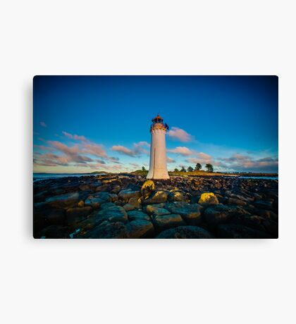 Port Fairy Griffith Island Lighthouse Sunrise Canvas Print