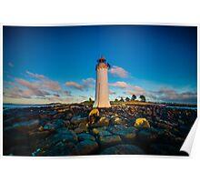 Port Fairy Griffith Island Lighthouse Sunrise Poster
