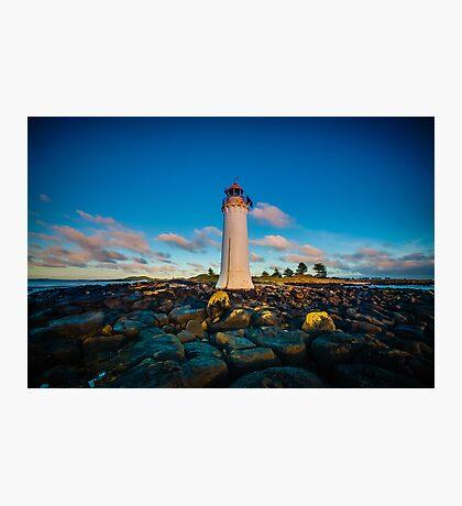 Port Fairy Griffith Island Lighthouse Sunrise Photographic Print