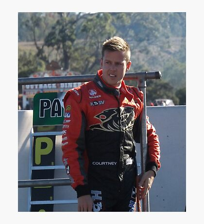 James Courtney Qld Raceway 2012 Photographic Print