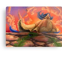 The Princess and the Feather Metal Print